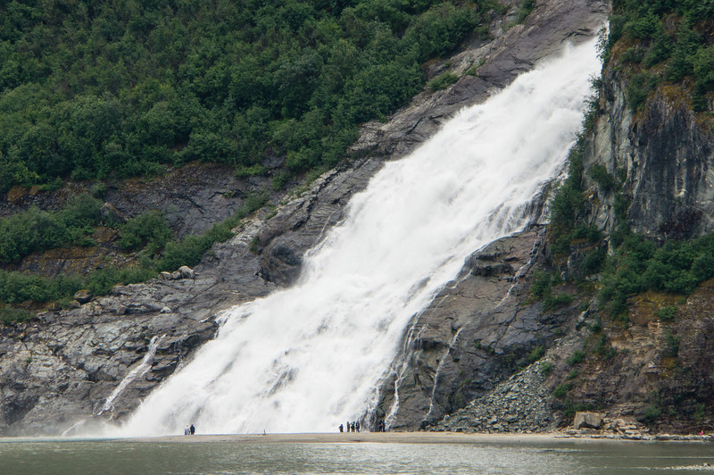 Waterfall near MendenHall Glacier