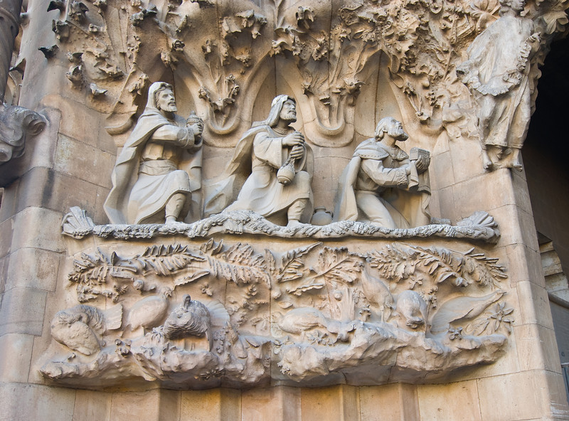 Sagrada Família, Nativity façade -- close-up of carvings. (Dec 12, 2007, 03:06pm)