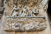 Sagrada Família, Nativity façade -- close-up of carvings, with pigeons. (Dec 12, 2007, 04:16pm)