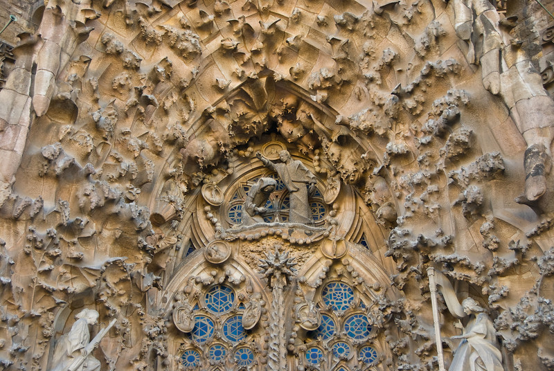 Sagrada Família, Nativity façade -- choir of cherubs, above the nativity scene. (Dec 12, 2007, 02:56pm)