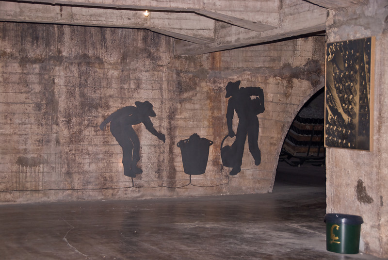 Mural on the wall underground at the Codorníu Winery. (Dec 13, 2007, 05:01pm)