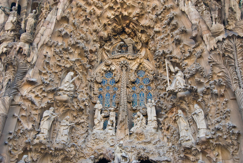 Sagrada Família, Nativity façade -- close-up of the nativity scene. (Dec 12, 2007, 02:52pm)