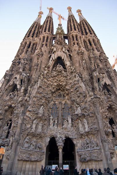 Sagrada Família, Nativity façade. (Dec 12, 2007, 02:54pm)