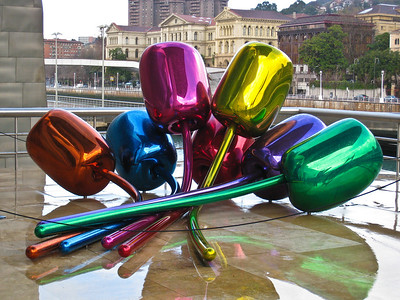 """Tulips"" a sculpture outside the Guggenheim museum in Bilbao. (Dec 10, 2007, 10:48am)"