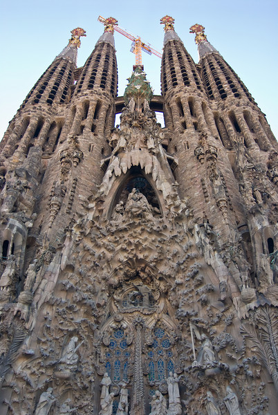 Sagrada Família, Nativity façade. (Dec 12, 2007, 03:00pm)