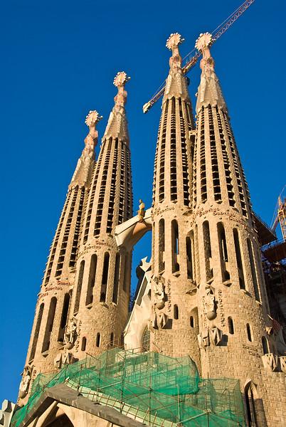 Sagrada Família towers. (Dec 12, 2007, 04:24pm)
