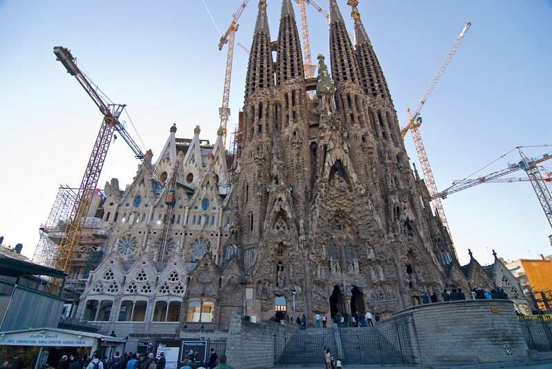 Sagrada Família Nativity façade, view from across the street. (Dec 12, 2007, 02:48pm)