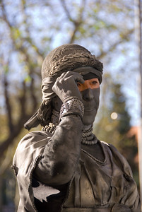 Blind justic living statue, taking a peek. (Dec 11, 2007, 11:35am)