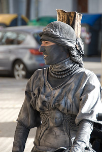 Blind justice living statue, unmasked while on break. (Dec 11, 2007, 11:38am)