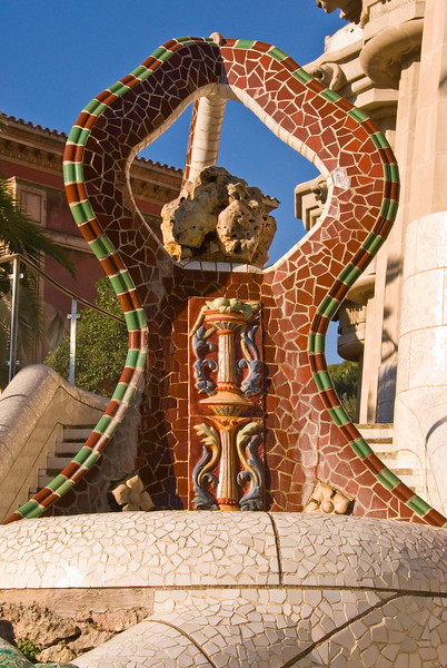 A tiled sculpure just above the dragon at the entrance to Park Güell. (Dec 14, 2007, 10:36am)