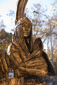 Angel living statue, praying. (Dec 11, 2007, 11:32am)