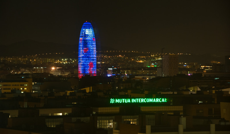 View of Barcelona at night from the Hotel Arts. (Dec 12, 2007, 10:06pm)