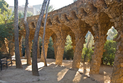 Bottom side of walkway at Park Güell in Barcelona. (Dec 14, 2007, 09:58am)