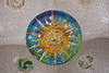 Close-up view of one of the mosaic tiled areas of the ceiling under the central seating area in Park Güell. (Dec 14, 2007, 10:27am)