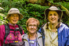 Judy, Donna and Daphne<br /> Judy, Donna and Daphne waiting to cross a suspension bridge along the Sky Walk in Monteverde Cloud Forest.
