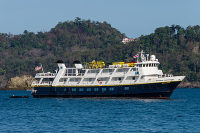 National Geographic Sea Lion This is the National Geographic Sea Lion, the small cruise ship that took us along the coast of Costa Rica and through the Panama Canal.