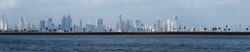 Panorama of Panama City<br /> This is a panorama view of Panama City along the Pacifica coast of Panama.