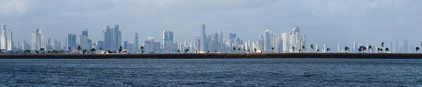Panorama of Panama City This is a panorama view of Panama City along the Pacifica coast of Panama.