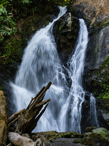 Waterfall in Corcovado National Park Some of the group walked the Pargo Trail in San Pedrillo section of Corcovado National Parkl in Costa Rica, while others tool a longer hike to this waterfall deeper in the park.
