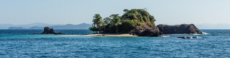 Granito de Oro<br /> A view of Granito de Oro, a small island that is part of Isla Coiba National Park in Panama.  We stopped on this island for snorkling and hermit crab photography.