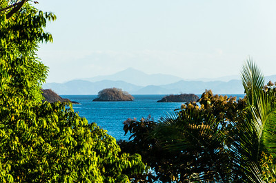 View of Panama A view of the Panama mainland from the park headquarters, Isla Coiba National Park, Panama.