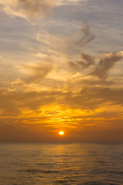 Sunset in Golfo de Panama<br /> Sunset over the Pacific Ocean, seen from Golfo de Panama (Gulf of Panama).
