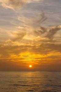 Sunset in Golfo de Panama Sunset over the Pacific Ocean, seen from Golfo de Panama (Gulf of Panama).
