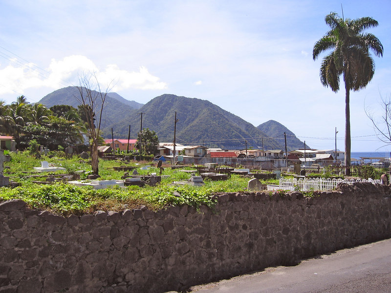 <b>South Roseau</b>   (Mar 20, 2006, 10:05am)  <p align=left>This picture shows the southern part of Roseau, the capital of Dominica.  In the foreground is the cemetery that is just outside the botanical gardens.</p>
