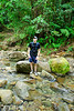 <b>Dave at Breakfast River</b>   (Mar 21, 2006, 09:11am)  hiking time: 65 mins   <p align=p>Here is Dave standing on a rock in the breakfast river, looking towards the steep climb ahead.</p>
