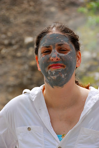 Daphne with mud covered face   (Mar 21, 2006, 10:54am)  Here is Daphne after having mud from the Valley of Desolation applied to her face.