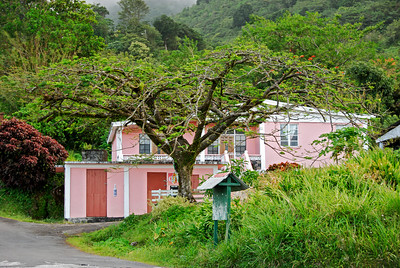 Pink house in Laudat   (Mar 21, 2006, 07:53am)  This house was at the side of the road in Laudat, where we stopped for a few minutes on our way to the trail head for the boiling lake hike.
