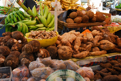 Bountiful harvest, every week   (Mar 24, 2006, 09:15am)  At the beginning of our tour of the island, we stopped at the local market in Roseau.  The market is packed with harvest, since it is all grown on the island, year round.