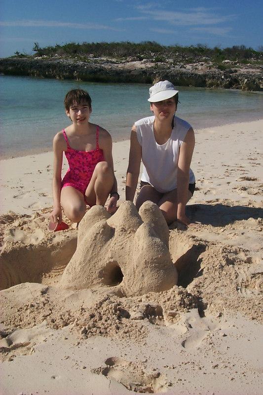<b>Daphne Shows off Her Sand Castle</b>   (Apr 17, 2000, 04:43pm)
