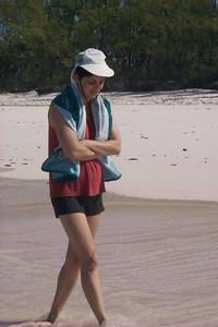 Daphne Walks in Surf   (Apr 19, 2000, 04:00pm)