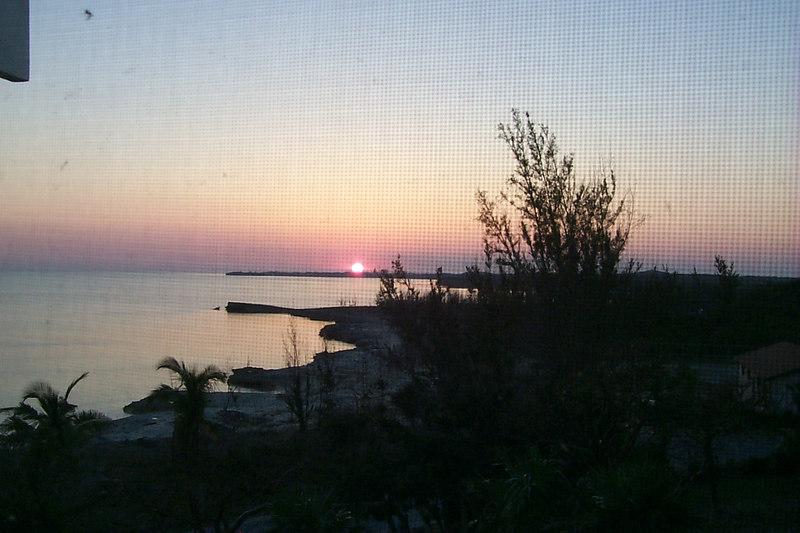 <b>Sunset Seen from Porch at Rainbow Inn</b>   (Apr 19, 2000, 07:28pm)