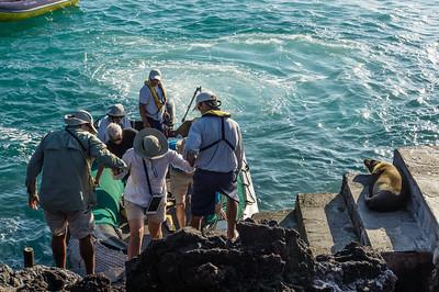 Disembarking at Bartolomé Island