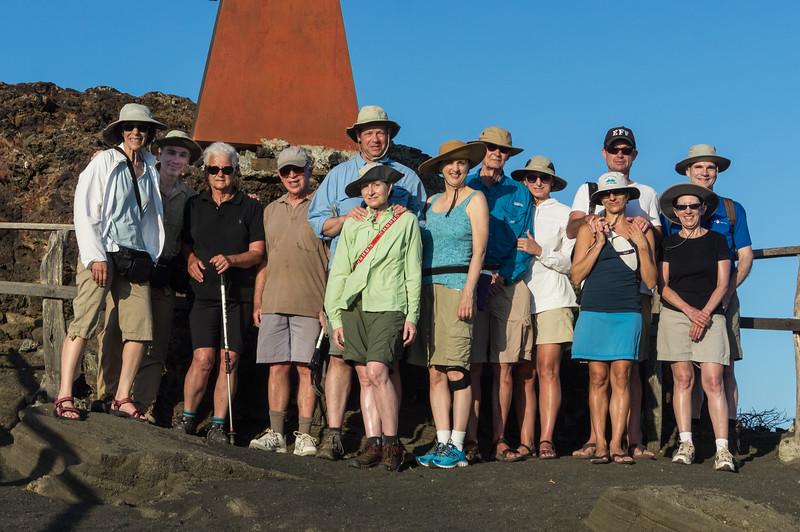 Our group on Bartolomé Island