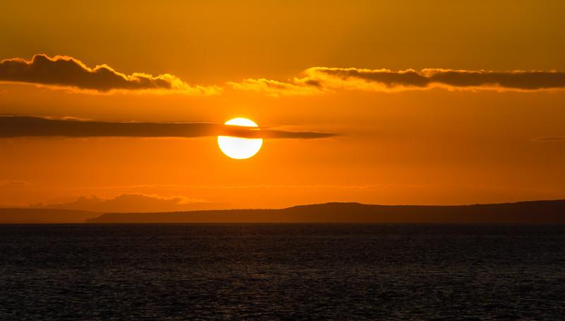 Sunset at South Plaza Island