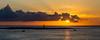 Sunset over Punta Suárez