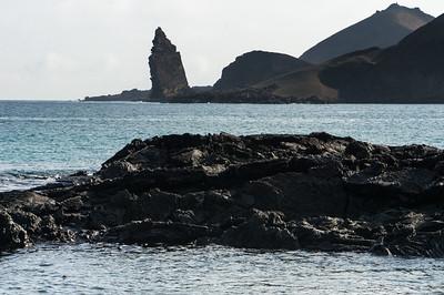Pinnacle Rock from Santiago Island