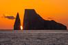 Sunset through Kicker Rock