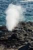 Blow hole near Punta Suárez