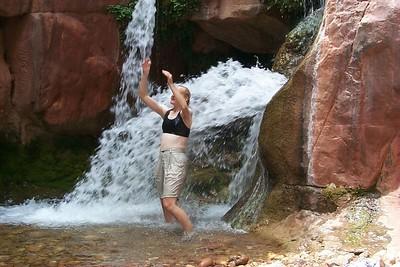 Jo Ann at Clear Creek Falls   (Jun 01, 1999, 01:50pm)