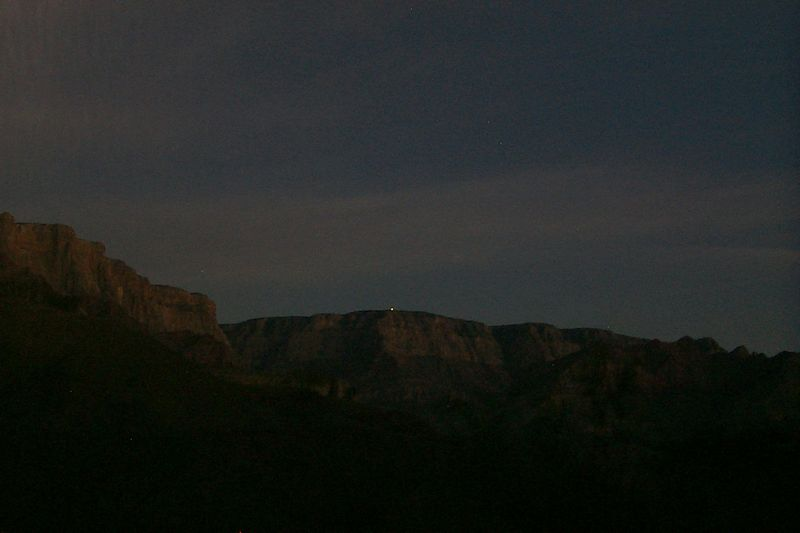 <b>Night View from Camp</b>   (May 30, 1999, 09:16pm)