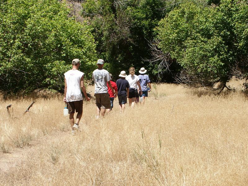 <b>Start of the Jones Hole hike</b>   (Jun 28, 2003, 01:45pm)