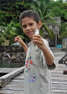 Boat captain's son caught  a fish while we ate   (Jul 15, 2004, 01:28pm)