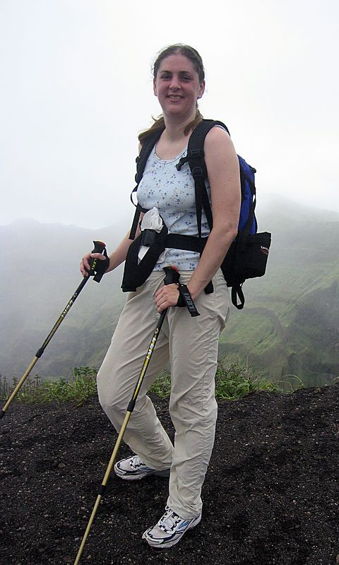 <b>Daphne on the top of La Soufriere</b>   (Jul 17, 2004, 12:22pm)  <p align=left>Proof that we completed the 3000 foot vertical climb.</p>