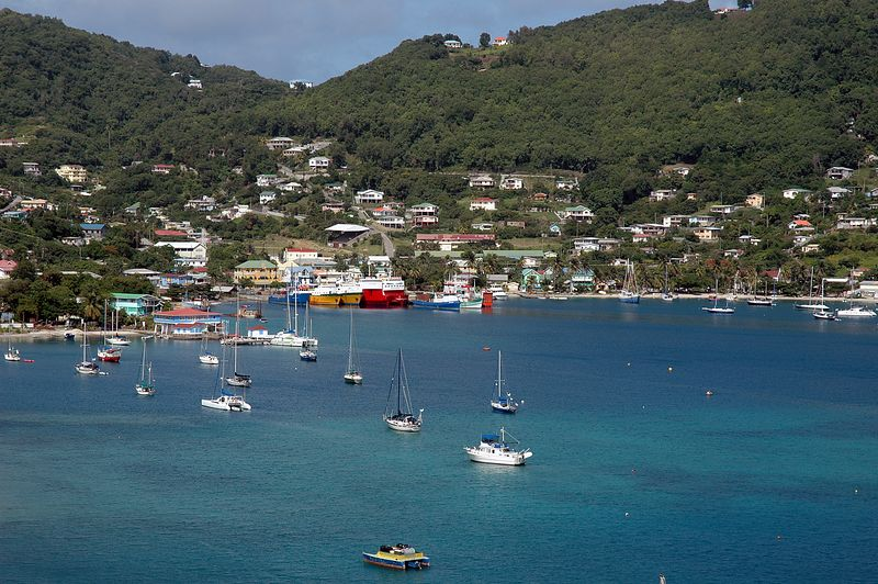 <b>Port Elizabeth in Bequia</b>   (Jul 18, 2004, 02:50pm)  <p align=left>Another shot of Port Elizabeth and Admiralty Bay taken from the old fort on the point.</p>  <p align=left></p>