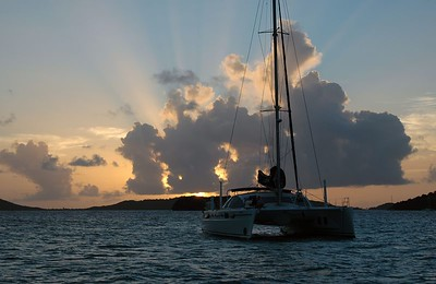 Sunset over the Tobago Cays   (Jul 22, 2004, 06:27pm)