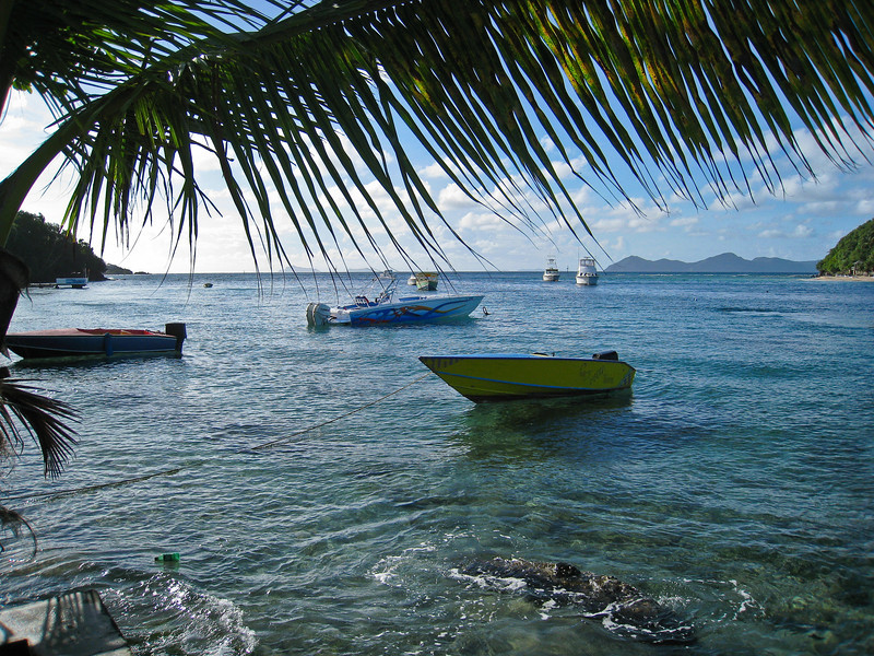 Calliaqua Bay (Dec 14, 2008, 08:20am)<br /> <br /> This is a view of Calliaqua Bay, off the south shore of St. Vincent.